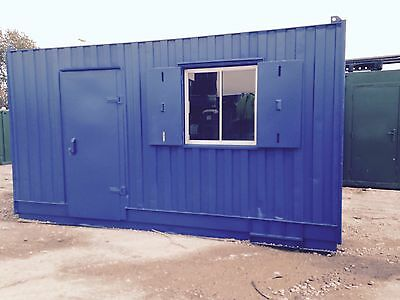 15FT x 8FT STEEL OFFICE SHELL SHIPPING CONTAINER FOR HIRE - LANCS BASED