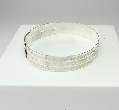 Vintage Silver Buckle Bangle By Charles Horner Hallmarked Chester 1944