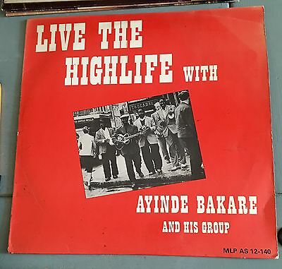 SUPER RARE! - AYINDE BAKARE & His Group - Live The High Life With...