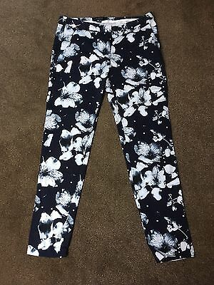 Atmosphere Blue Floral Trousers Size 8