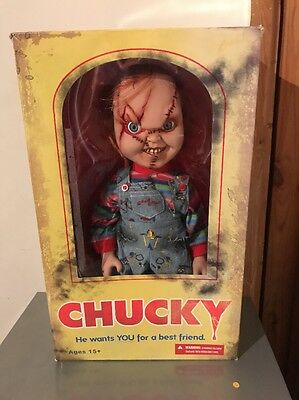 "Chucky Mezco 2013 Child's Play Figure 15"" Boxed !!"