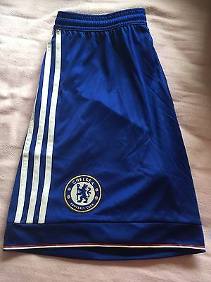 Chelsea FC home colour football shorts. Adults Size M