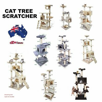 Cat Scratching Perch Post Tree Gym House Condo Furniture Scratcher 1.1m - 2.1m