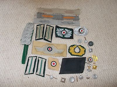 large lot Metal Cloth Army  Repro WW2  German Military