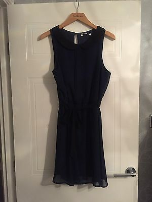New Look Size 12 Navy And Black Dress
