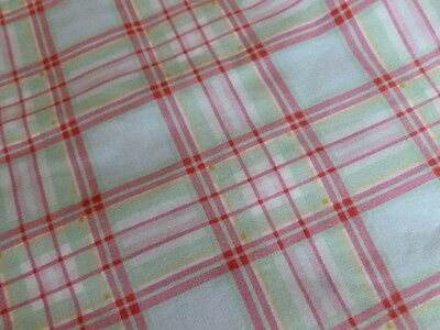 Vintage IKEA Rosali check cotton pair cushion covers 2 pillow cases craft fabr