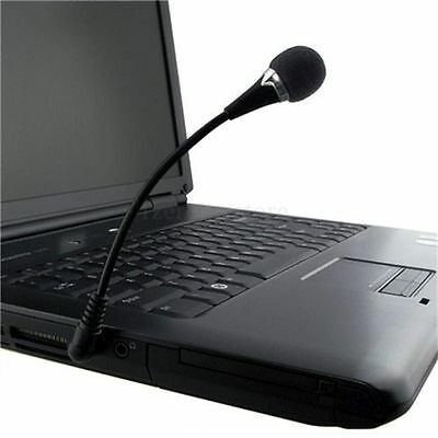 Mini Flexible Microphone 3.5mm For PC Laptop Notebook Computer Skype MSN Online