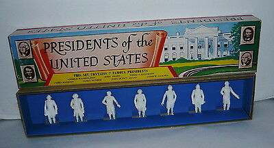 Vintage Marx Presidents Of The United States Figure Set In Box