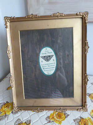 Vintage old gold decorative photo picture stand up or wall hanging frame
