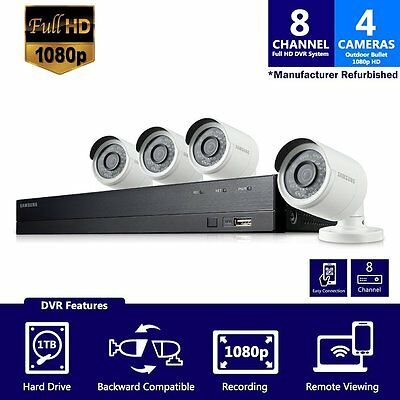 SDH-B74041 - Samsung 8 Channel 1080p HD 1TB Security Camera System with 4 BNC