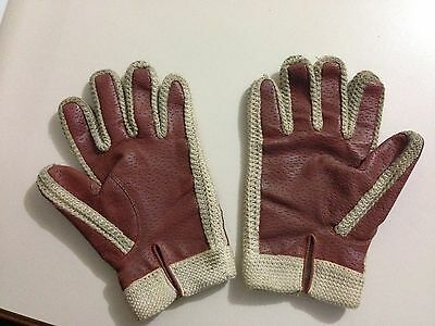 MENS Brown VINTAGE DRIVING GLOVES Size XL