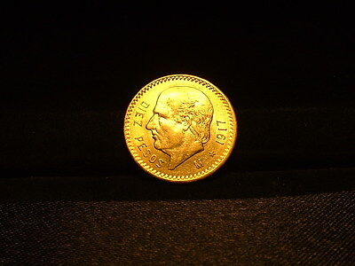 1917 Mexico Gold 10 Pesos! Nice Looking Coin!!