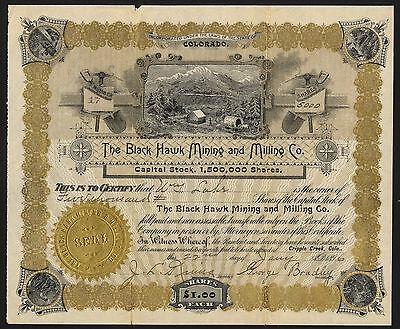 Colorado: Black Hawk Mining and Milling Co., $1 Shares, 1896