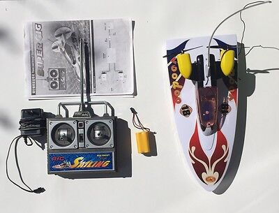 Electric Water R/C Action Set - Sailing Power Speed Boat Toy - Radio Control