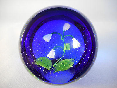 Stunning Caithness 'Snowdrops' Glass Paperweight. Limited Edition. Second