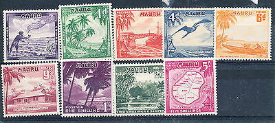 Nauru 1954 - 65 Definitives m.m.       (41)