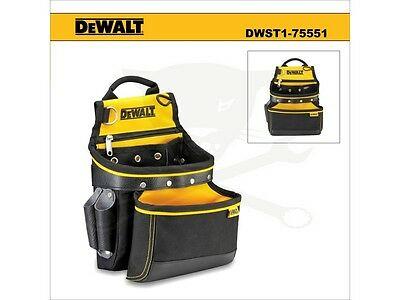 DeWalt DWST1-75551 Multi Purpose Heavy Duty Tool Belt Pouch Leather & 1200 Den
