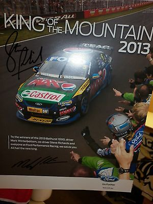 Ford Falcon Bathurst 2013 Winners  Poster Signed