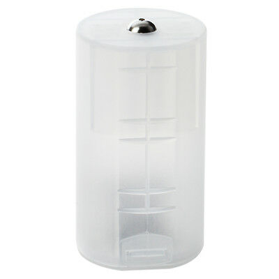 8 x AA to D Size Battery Adapter White Case