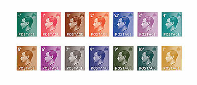 Limited Edition complete set of Edward VIII definitives reproduction