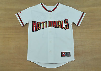 Washington Nationals - Youth S / 8-10 years old - Majestic MLB Baseball Jersey
