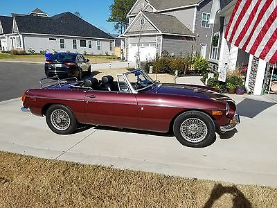 1970 MGB Convertible, Burgundy, 100K miles, Good condition