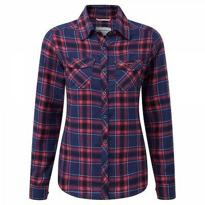 Craghoppers Womens Ladies Valemont Checkered Shirt Night Blue SIZE 14 *RRP £35*