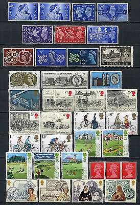GREAT BRITAIN UK Lot of Mint Stamps Parliament Mail Bicycles Victorian age &more