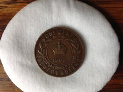 Newfoundland One Cent Coin 1907, Good Condition