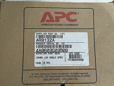 Pair of Original Combination Lock Handle APC AR8132A with Keys for Server Rack