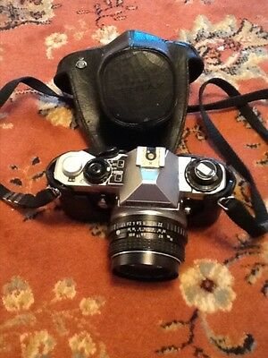 Good vintage Pentax ME super Slr Camera with case