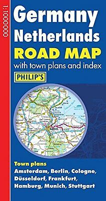 Philip's Germany and Netherlands Road Map by Philip's (Hardback, 2012)