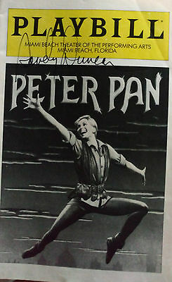 Playbill signed by Sandy Duncan from Peter Pan