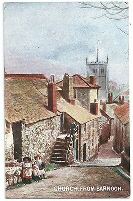 Vintage Postcard. Church From Barnoon. Used 1905  Ref:76308