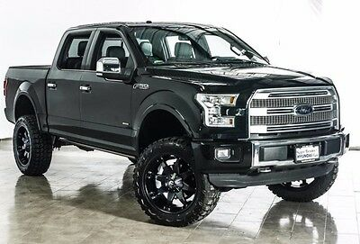 """2016 Ford F-150 PLATINUM NEW 6"""" LIFT 22"""" FUEL WHEELS 35"""" MUD TIRES 2016 FORD F150 PLATINUM PANO LEATHER AC/HEATED SEAT NAV"""