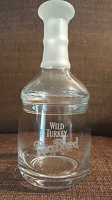 Wild Turkey Rare Breed Bourbon Stacking Glass and Bedside Decanter Set - Rare