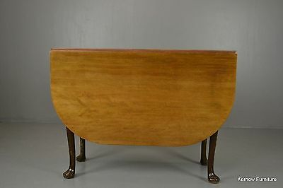 Antique Mahogany Drop Leaf Dining Kitchen Table