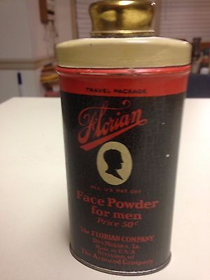 "Vintage,""Florian"",Face Powder for Men,Des Moines,Iowa,NOS,Near Mint!!!!"