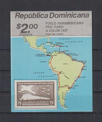 Dominicana - MNH - Art - Map - Imperf - Print Error