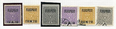 AUSTRIA - Selection  Airmail, MH/Cancelled