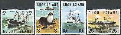 GUGH ISLAND UK Great Britain Local Ships Sea Calf Complete Set MNH