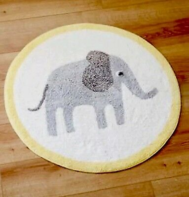 Boys Girls Unisex Grey Elephant Nursery Rug Mat 70cm NEW Jungle Safari