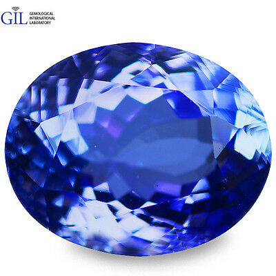 "3.08 CT WOw Awesome ! ""GIL CERTIFIED"" 100% NATURAL AAA D'BLOCK BLUE TANZANITE"