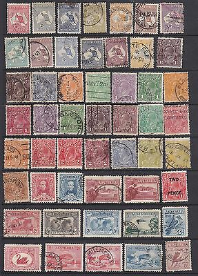 Australia Collection, Mint & Used, Values To 5/- Inc Roos, Sets, Varieties.