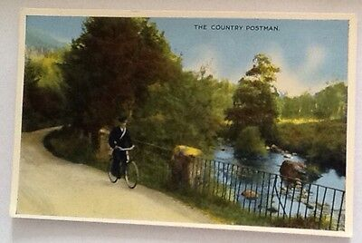 The Country Postman Postcard