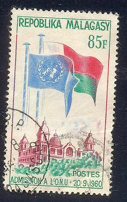 Malagasy 85F Used Stamp 29852 Flag Monument
