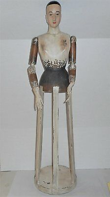 36 Inch Distressed Santos Wood Cage Doll