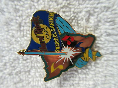 SHARM EL SHEIKH Map with Flag Hard Rock Cafe Pin