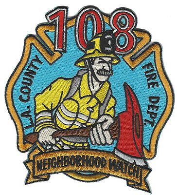 "LA County Fire Department Engine 108 ""JUNE 2017 (CALIFORNIA)  FIRE PATCH"