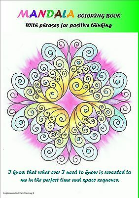 coloring book Mandala 30 mandalas PDF file with phrases for positive thinking